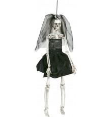 Décoration mariée noire 42 cm Halloween