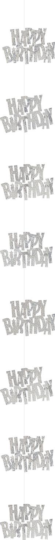 Décoration suspendue Happy Birthday gris