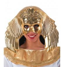 Demi masque doré reine égyptienne femme