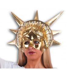 Demi masque doré Statue de la Liberté adulte