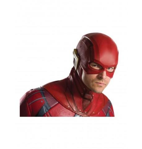 Demi masque en latex Flash Justice League adulte