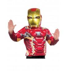 Demi-masque plastique Iron Man enfant