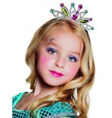 Diadème petite princesse colorée fille