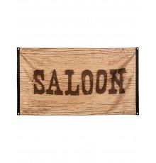 Drapeau Saloon Western Wild West 90 x 150 cm