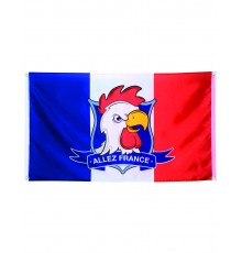 Drapeau supporter Allez France 90 X 150 cm