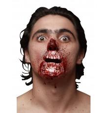 Fausse blessure bouche arrachée adulte Halloween
