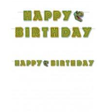 Guirlande à assembler Happy Birthday thème Dinosaures