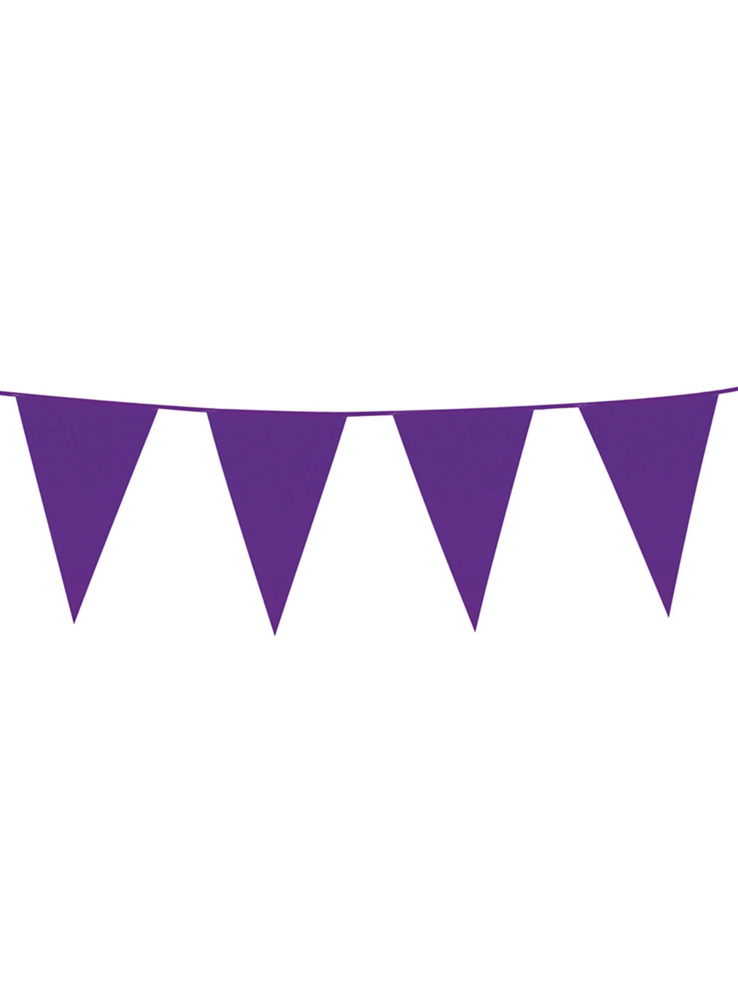Guirlande à fanions violets 10m