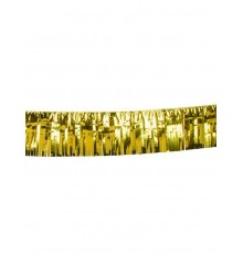 Guirlande à franges dorées 6 m