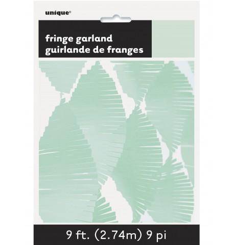 Guirlande à franges en papier vert menthe 2,74 m