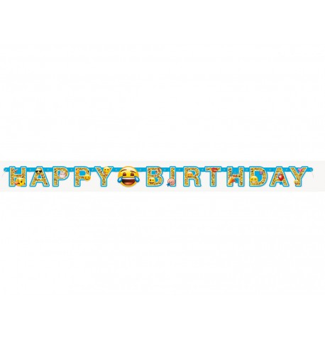 Guirlande articulée Happy Birthday Emoji