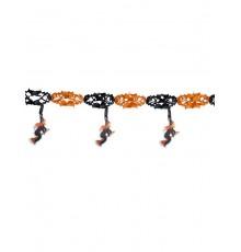 Guirlande de sorcières orange et noir 300x40cm