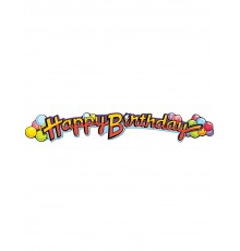 Guirlande en carton Happy Birthday 89 cm