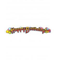 Guirlande en carton Happy Birthday 89 cm