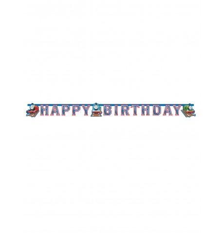Guirlande en carton Happy Birthday Thomas et ses amis 180 x 15 cm