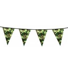 Guirlande fanions papier Camouflage