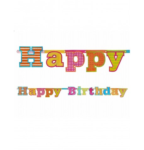 Guirlande Happy Birthday 166 cm