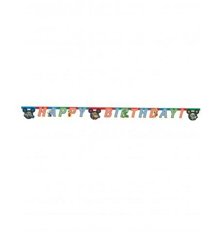 Guirlande Happy Birthday Mickey Racing 2 mètres