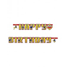 Guirlande Happy Birthday Sam le Pompier 180 cm
