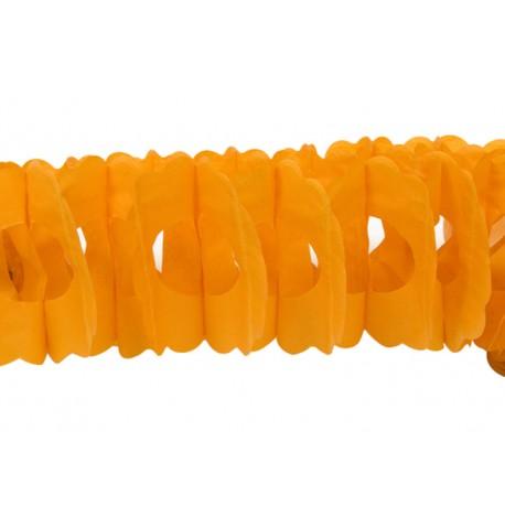 Guirlande papier orange 15cm x 4m