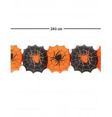 Guirlande papier toile d'araignées Halloween 240 cm