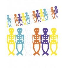 Guirlande squelettes colorés Dia de los muertos Halloween