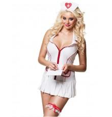 Jarretière infirmière avec seringue femme