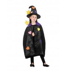 Kit accessoires sorcière patchwork fille Halloween