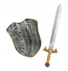 Kit bouclier et épée chevalier médiéval enfant en plastique