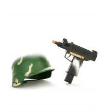 Kit casque et mitraillette en plastique