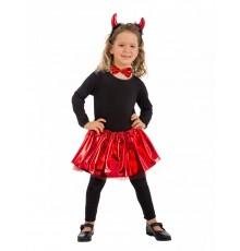 Kit diablesse rouge noeud papillon fille