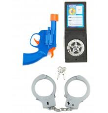 Kit Policier enfant en plastique 4 accessoires