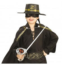 Kit Zorro Epée en plastique masque et chapeau enfant