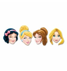 Lot de 4 Masques encarton Princesses Disney