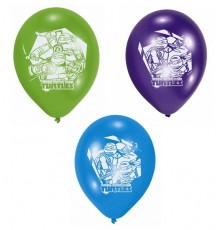 Lot de 6 Ballons de baudruche en latex Tortues Ninja