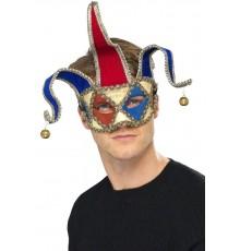Loup vénitien clown arlequin adulte