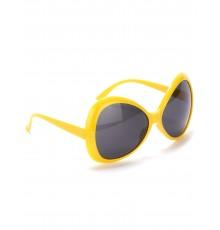 Lunettes disco adulte jaune