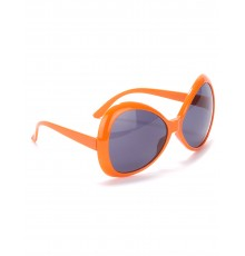 Lunettes disco adulte orange