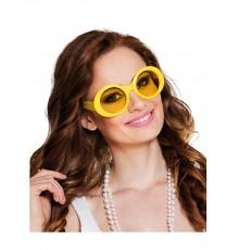 Lunettes disco jaunes adulte