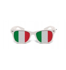 Lunettes humoristiques blanches Italie