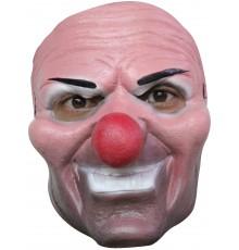 Masque clown malfaisant nez rouge adulte Halloween