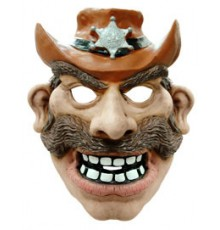 Masque cowboy adulte