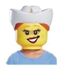 Masque cowgirl LEGO enfants