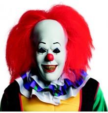 Masque en latex avec cheveux clown Ça adulte