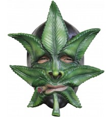 Masque feuille de cannabis adulte