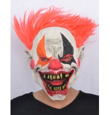 Masque latex clown de l'enfer adulte Halloween
