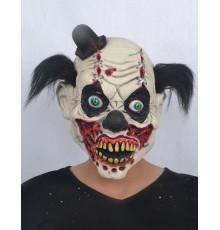 Masque latex clown sanglant adulte Halloween