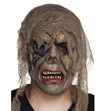Masque latex zombie pirate adulte