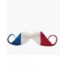 Moustache supporter France adulte