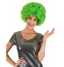 Perruque afro disco vert fluo confort adulte